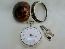 Fine Horn Shell Pair Case Verge Fusee Pocket Watch By James Scholefield