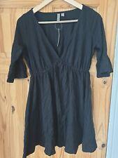 Asos Womens Black V-Neck Short Sleeve Dress Uk 6 #Box 47
