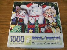 """1000 pc Bits And Pieces Puzzle: Meowy Christmas by Jenny Newland 20"""" X 27"""""""