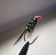 Red Head / Silver Diawl Bach size 16 (Set of 3) Fly Fishing Nymph Wet Buzzers
