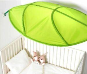 New, sealed IKEA LOVA Green Leaf Childrens Kids Bed Canopy 403.384.05 #17915