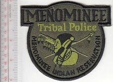 American Indian Tribe Police Department Wisconsin Menominee Tribal Reservation a