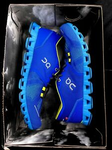 ON Cloud X Running Shoes Mens Size 9.5 Water/Blues - NIB No Lid