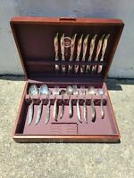 1847 Rogers Bros Silverware Flair Set In Chest 49 Pieces