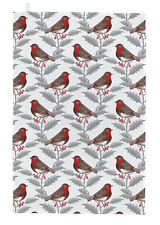 Thornback & Peel Tea Towel, Robin & Holly Design, 100% Cotton