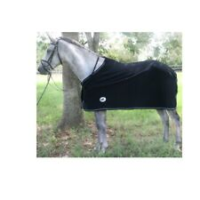 Elite Fleece Horse Cooler For Horses Medium Heavyweight Black 78 Inches