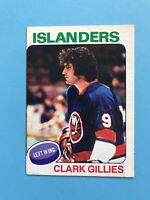 CLARK GILLIES ROOKIE 1975-76 O-Pee-Chee Hockey Card #199 NEW YORK ISLANDERS