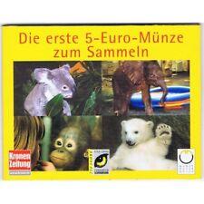 AUSTRIA 5 EURO 2002 ZOO PLATA COINCARD 9 ESQUINAS -FOLDER KOALA