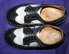 Doc Martens Wing Tip Black And White Oxford Shoes women's size 9