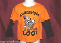 Disney Halloween Pirate Mickey Mouse Infant/Toddler T-Shirt (Size 12 Months) NEW