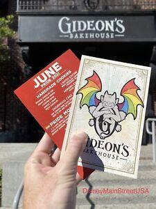 """Gideon's Bakehouse JUNE 2021 """"PRIDE MONTH"""" Menu Disney Springs Disney"""
