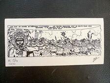 TORTON ex-libris Conquérants du Mexique numéroté signé Bataille Aztèques