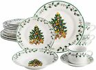 Gibson Home Decorated Christmas Tree 20-piece Dinnerware Set Service for 4 NEW