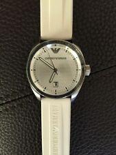 New Emporio Armani Mens Watch White Rubber Strap AR0684 $195+ SOLD OUT Rare