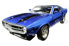 1969 FORD MUSTANG SHELBY GT-350 PILOT CAR MET. BLUE MCACN 1/18 AUTOWORLD AMM1188
