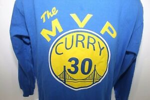 Steph Curry The MVP #30 Golden State Warriors NBA Long Sleeve T Shirt Youth XL