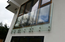Frameless Glass Balustrade / balcony / bannister /Garden railings  - Side Fixed