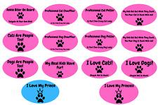 Dog Cat Pet Funny Car Truck Fridge Magnet Pink Black Crazy Lady Mom