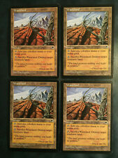4 Wasteland (NM) - Tempest - English Magic MTG
