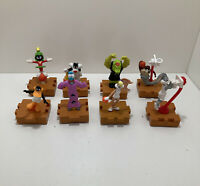 1996 Warner Brothers Looney Tunes Space Jam Spin (Lot Of 8) Bugs Bunny Martian..