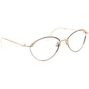 Christian Dior Eyeglasses 2876 42 Gold/Purple Round Metal Austria 54[]17 130