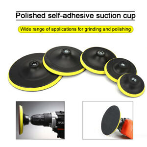 """3-7"""" Backer Pad Hook and Loop Backing Plate Polishing buffing Pads Sanding Discs"""