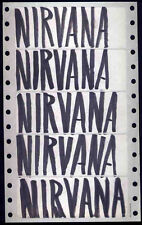NIRVANA REPRO PROMO LABEL STICKERS HAND DRAWN BY KURT COBAIN . NEVERMIND