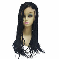 Shoulder-Length Long Braided Black Lace Front Wigs for Black Women Cornrows Wig