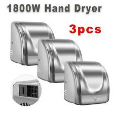 Hand Dryer Electric Automatic Hot Air Hand Blower For Home Commercial 1800W 3PCS
