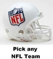 NEW RIDDELL MINI REPLICA NFL FOOTBALL HELMET HELMETS - 32 Teams to Pick From