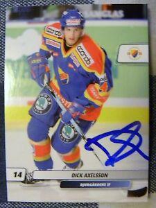 Detroit Red Wings Dick Axelsson Signed 07/08 SHL Elitset Djurgardens Card Auto