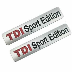 2x TDI Sport Edition Emblem Aufkleber Schriftzug Logo Metall Badge Sticker