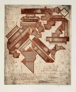 EDUARDO PAOLOZZI - Hommage to Michelangelo -  handsigned etching - 1975