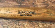 SPALDING RECORD ANTIQUE BASEBALL BAT 1908-1914 NICE