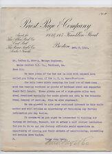 Boston business Priest, Page & Company 1916 letter to the Maine Central Railroad