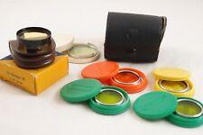 Lot of 6x filters Voigtlander Moment 33-38 & Ceneiplan Color Filters 28 mm