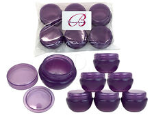 6 Pieces 10 Gram/10ml Purple Round Frosted Sample Jars with Inner Liner and Lid