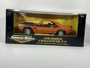 ERTL AMERICAN MUSCLE 1970 DODGE CHALLENGER T/A LIMITED EDITION DIE CAST orange