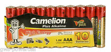 50 x Camelion AAA in Folie Batterie LR03 1,5V Plus Alkaline High Energy Micro