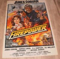 A0 Filmplakat  FIREPOVER,JAMES COBURN,SOPHIA LOREN,O.J. SIMPSON