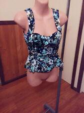Unbranded Polyester Short Sleeve Peplum Tops for Women