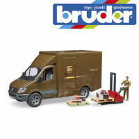 Bruder Mercedes Benz Sprinter UPS & Driver Postman Kids Model Toy Scale 1:16