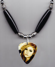 Avril Lavigne Signature Photo Guitar Pick Necklace #5
