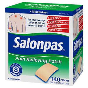 New SALONPAS 140  Pain Relieving Patches external Arthritis Back Relief