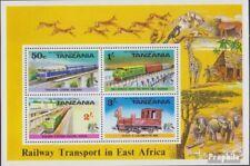 tanzanie Bloc 3 (complète edition) neuf avec gomme originale 1976 ferroviaire