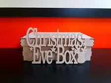 4 x Mdf Christmas Eve Boxes & Toppers 30cm x 20cm x 10cm  & Topper 25cm x 15cm