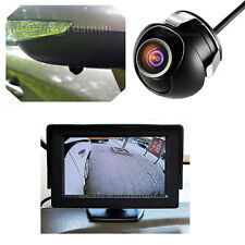 """Car Rear Side Front Back View Parking 360° Camera 100% Waterproof +4.3"""" Monitor"""