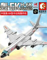Sembo Block H-6K Chinese Bomber Model Kids Building Toys Adult Puzzle Boys Gift