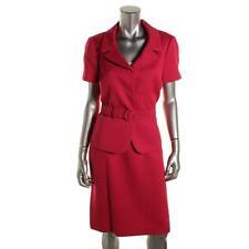 Tahari ASL 8679 Womens Richard Pink Textured 2PC Short Sleeves Skirt Suit 6