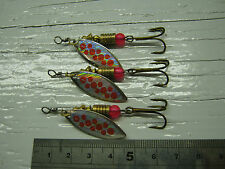 D115. Willow Blade Spinners 4g #3 Lures Bait Bass Salmon Pike Sea Trout Fishing